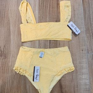 dippin daisy's yellow swimsuit